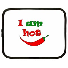 I Am Hot  Netbook Case (large) by Valentinaart