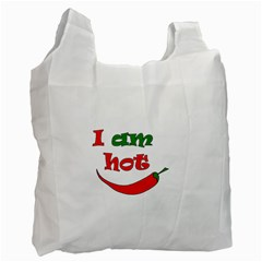 I Am Hot  Recycle Bag (one Side) by Valentinaart