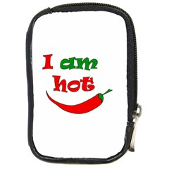 I Am Hot  Compact Camera Cases by Valentinaart