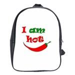 I am hot  School Bags(Large)