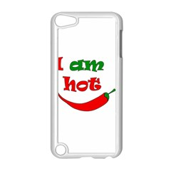 I Am Hot  Apple Ipod Touch 5 Case (white) by Valentinaart