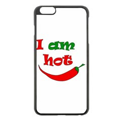 I Am Hot  Apple Iphone 6 Plus/6s Plus Black Enamel Case by Valentinaart