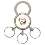 Twerk or treat - Funny Halloween design 3-Ring Key Chains