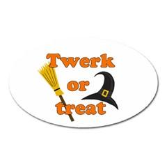 Twerk Or Treat   Funny Halloween Design Oval Magnet by Valentinaart