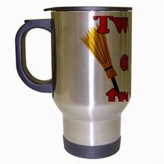 Twerk Or Treat   Funny Halloween Design Travel Mug (silver Gray) by Valentinaart