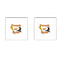Twerk Or Treat   Funny Halloween Design Cufflinks (square) by Valentinaart