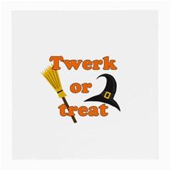 Twerk Or Treat   Funny Halloween Design Medium Glasses Cloth (2 Side) by Valentinaart