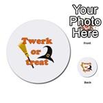 Twerk or treat - Funny Halloween design Multi-purpose Cards (Round)