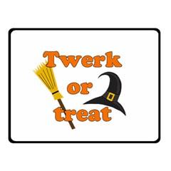 Twerk Or Treat   Funny Halloween Design Fleece Blanket (small) by Valentinaart