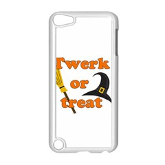 Twerk Or Treat   Funny Halloween Design Apple Ipod Touch 5 Case (white) by Valentinaart