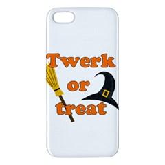 Twerk Or Treat   Funny Halloween Design Apple Iphone 5 Premium Hardshell Case by Valentinaart