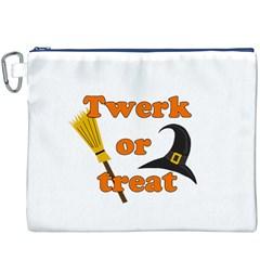 Twerk Or Treat   Funny Halloween Design Canvas Cosmetic Bag (xxxl) by Valentinaart