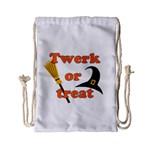 Twerk or treat - Funny Halloween design Drawstring Bag (Small)