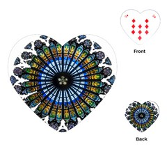 Rose Window Strasbourg Cathedral Playing Cards (Heart)  by Zeze