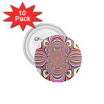 Pastel Shades Ornamental Flower 1.75  Buttons (10 pack)