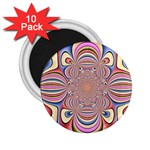 Pastel Shades Ornamental Flower 2.25  Magnets (10 pack)
