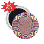Pastel Shades Ornamental Flower 2.25  Magnets (100 pack)