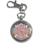 Pastel Shades Ornamental Flower Key Chain Watches