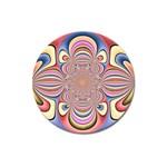 Pastel Shades Ornamental Flower Magnet 3  (Round)