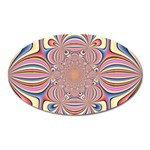 Pastel Shades Ornamental Flower Oval Magnet