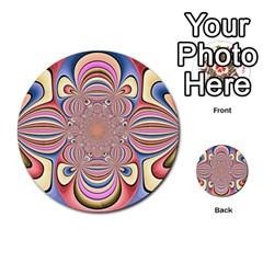 Pastel Shades Ornamental Flower Multi Purpose Cards (round)  by designworld65