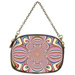 Pastel Shades Ornamental Flower Chain Purses (One Side)