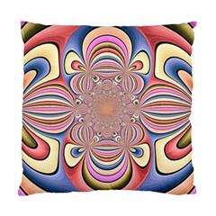 Pastel Shades Ornamental Flower Standard Cushion Case (two Sides) by designworld65