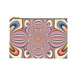 Pastel Shades Ornamental Flower Cosmetic Bag (Large)