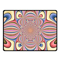 Pastel Shades Ornamental Flower Fleece Blanket (small) by designworld65