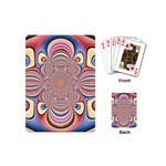 Pastel Shades Ornamental Flower Playing Cards (Mini)