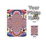 Pastel Shades Ornamental Flower Playing Cards 54 (Mini)