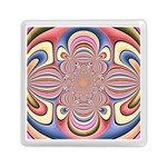 Pastel Shades Ornamental Flower Memory Card Reader (Square)