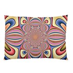 Pastel Shades Ornamental Flower Pillow Case (Two Sides)
