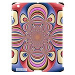 Pastel Shades Ornamental Flower Apple iPad 3/4 Hardshell Case (Compatible with Smart Cover)