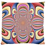 Pastel Shades Ornamental Flower Large Cushion Case (Two Sides)