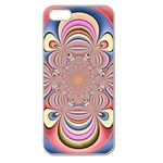 Pastel Shades Ornamental Flower Apple Seamless iPhone 5 Case (Clear)