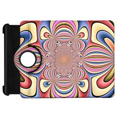 Pastel Shades Ornamental Flower Kindle Fire Hd Flip 360 Case by designworld65