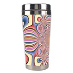Pastel Shades Ornamental Flower Stainless Steel Travel Tumblers