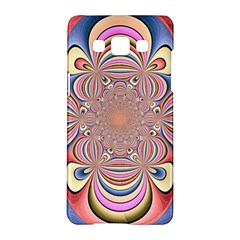 Pastel Shades Ornamental Flower Samsung Galaxy A5 Hardshell Case  by designworld65