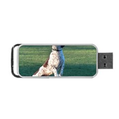 English Springer Catching Ball Portable USB Flash (One Side) by TailWags