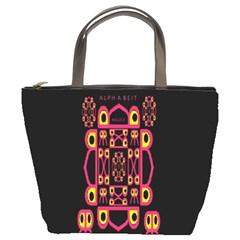 Alphabet Shirt Bucket Bags by MRTACPANS
