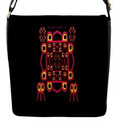 Alphabet Shirt Flap Messenger Bag (s) by MRTACPANS