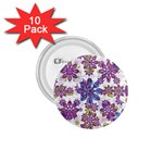 Stylized Floral Ornate Pattern 1.75  Buttons (10 pack)