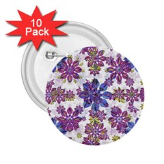 Stylized Floral Ornate Pattern 2 25  Buttons (10 Pack)  by dflcprints