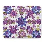 Stylized Floral Ornate Pattern Large Mousepads
