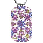 Stylized Floral Ornate Pattern Dog Tag (Two Sides)