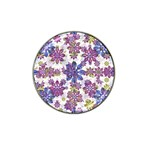 Stylized Floral Ornate Pattern Hat Clip Ball Marker (4 pack)