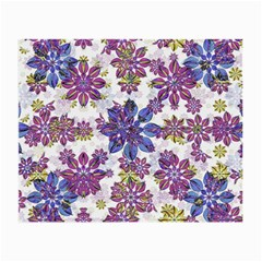 Stylized Floral Ornate Pattern Small Glasses Cloth by dflcprints