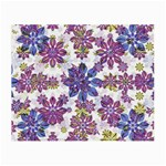 Stylized Floral Ornate Pattern Small Glasses Cloth