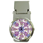 Stylized Floral Ornate Pattern Money Clip Watches